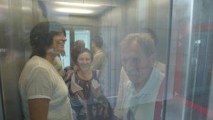 Univerzitní campus v Brně - ve výtahu